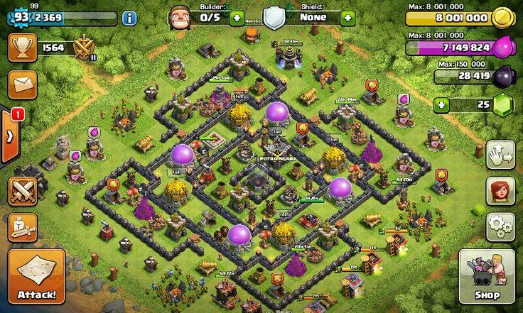 Coc farming base th 9