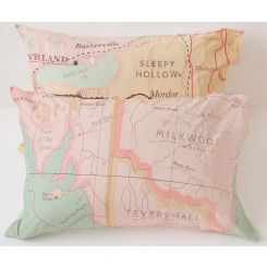 Pillowcase Set in Maps