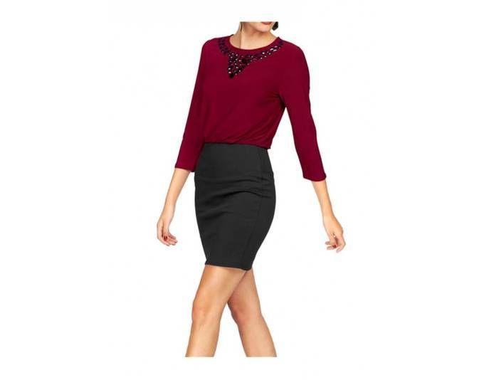 Melrose Damen Kleid mit Strass, rot-schwarz Jetzt bestellen unter: https://mode.ladendirekt.de/damen/bekleidung/kleider/sonstige-kleider/?uid=43f529ee-7372-5a39-9b43-05fd5ee897d8&utm_source=pinterest&utm_medium=pin&utm_campaign=boards #sonstigekleider #kleider #bekleidung