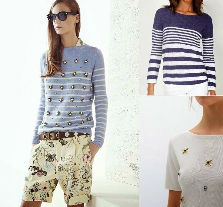 Dos propuestas, una a rayas de Cortefiel y otra con pedrería de Zara  #Gucci #inspiration http://cuchurutu.blogspot.com.es/2014/06/gucci-inspiration.html