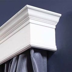 Master Bedroom...  DIY Wooden Architectural Craftsman Style Cornice for window trimming / dressing valance.