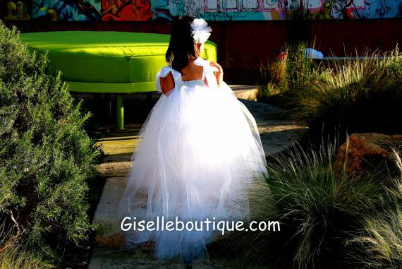 Stunning Couture Flower Girl Tutu Dress by giselleboutique on Etsy, $115.00