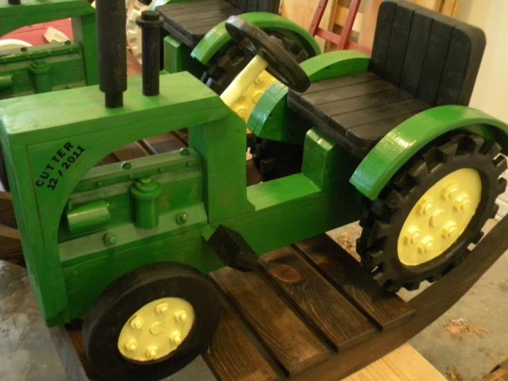 Wooden Rocking Tractor -- Handmade Children's Gift. $239 ...