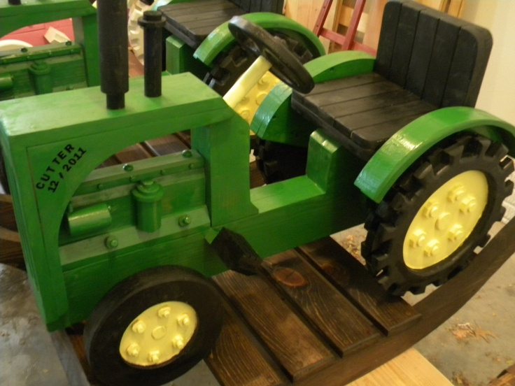 Wooden Tractor Plans : Wooden rocking tractor plans woodworking projects