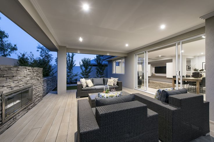 Gorgeous outdoor alfresco areas © Ben Trager Homes | On display in Perth Western Australia