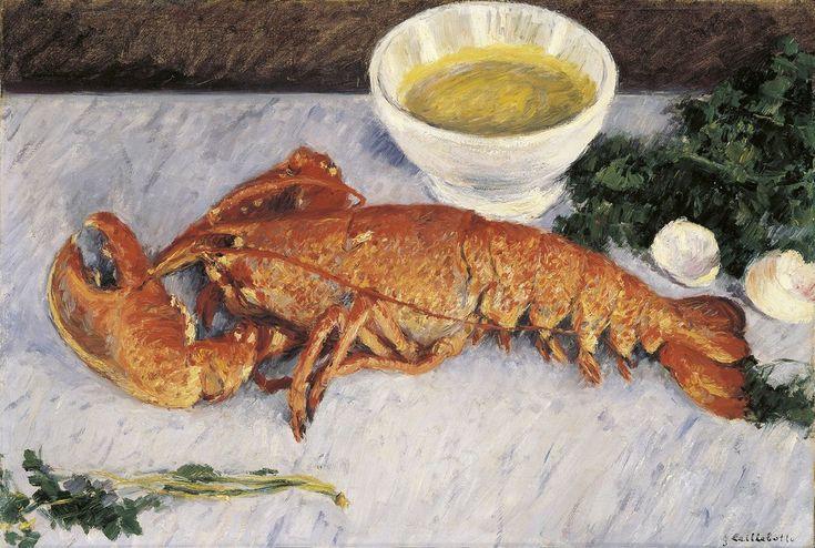 Gustave Caillebotte, Nature morte au homard, 1883