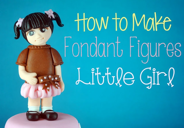 {New Bake Happy Tutorial Post} One of the most requested - Fondant Figures. Here's one for a little girl. Hope you like it!