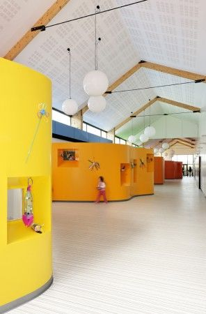 Children's Recreation Centre / AIR Architecture in France - inspired by Pebbles candy.