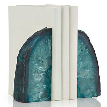Add a pop of color with our naturally stunning and one of a kind Agate Bookends