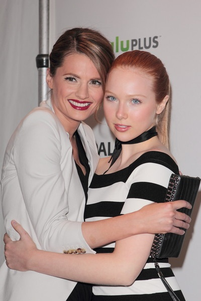 Stana Katic and Molly C.Quinn {Kate and Alexis~Castle tv series actress}