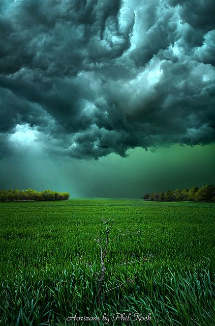 Horizons, Marshfield, Wisconsin  photo by philkoch: Photos, Nature, Colors, Beautiful, Phil Koch, Photography, Storms Cloud, Fields, Mothers Natural