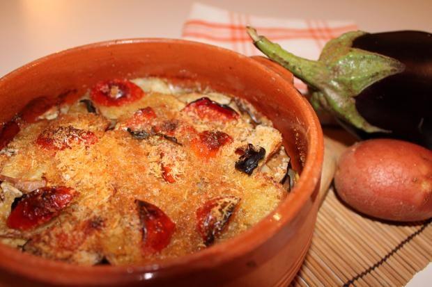 TORTINO DI MELANZANE, PATATE ROSSE E MOZZARELLA - Cucina Mancina - Le ricette mancine