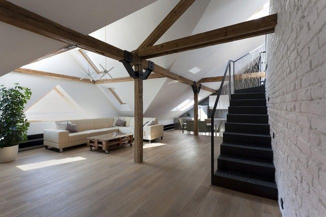 Attic Loft Reconstruction by B2 Architecture