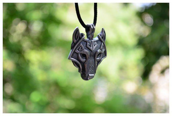 This Men's Norse Viking Wold Head Fashion Pendant and Necklace is very popular…