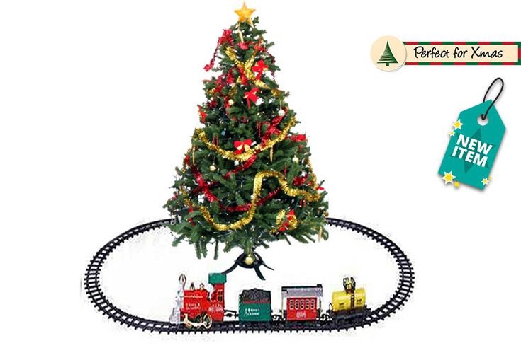 Save on Xmas 'Holiday Express' Train Set - 2 Sizes! Discount Offer Get a Christmas 'Holiday Express' train set.  Choose between medium and extra-large sizes.  With a light up headlight and classic steam train sound.  Medium: can be built in two different track options.  Extra-large: can be built with four different track options.  Requires 4 x AAA batteries (not included). BUY NOW for just £14.99