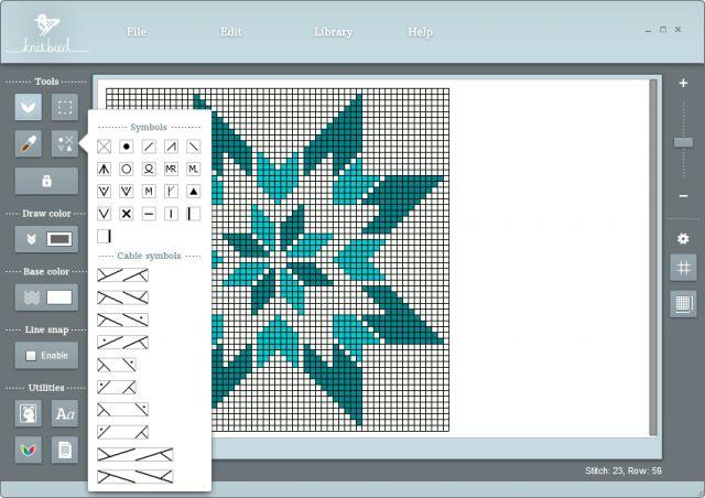 Knitbird - et nyttig digitalt verktøy til strikkere som vil lage egne mønstre. Det finnes både til Mac og PC. Her kan du lese litt mer om dette.