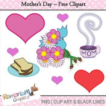 FREE Mother's day clipart