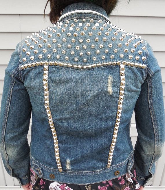 Women's Small Punk Studded Jacket by blitzclothing on Etsy