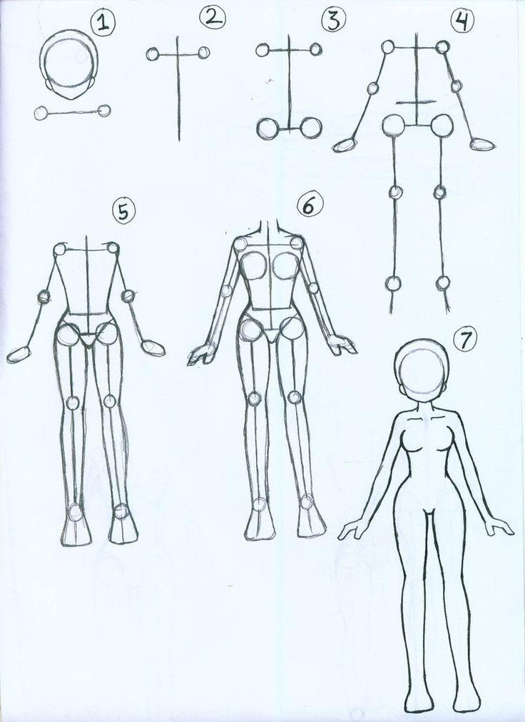 How to draw Female Anime Body by ~ariSemutz on deviantART