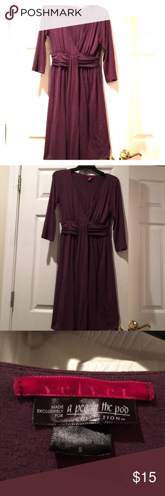 Pea in the pod maternity dress This eggplant colored dress is in excellent used condition from smoke free home. No stains, tears or holes. A Pea in the Pod Dresses Midi