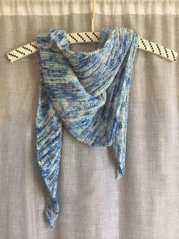 by GJ: Tørklæde i Merino Singles fra Sysleriget - Arlequin Shawl (scarf)
