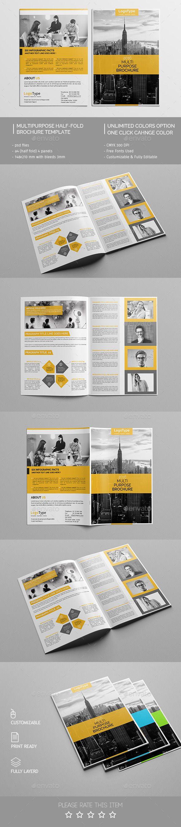 Corporate Bi-fold Brochure Template PSD #design Download: http://graphicriver.net/item/corporate-bifold-brochure-template-08/13771026?ref=ksioks