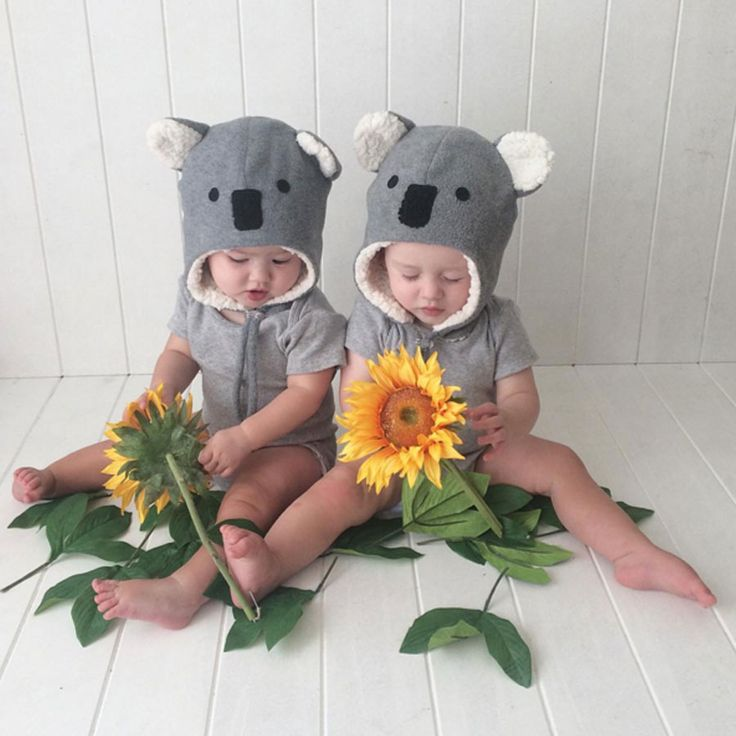 These little koala beanies are just soo cute!! keeping them warm and snuggly #bedheadhats #winterbeanies #earflaps #kidshats #koalahat