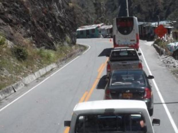 Tráfico en la Carretera Central