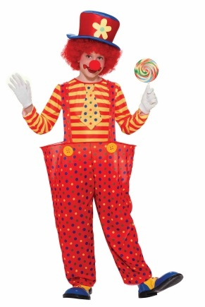 Here's another take on a clown costume with suspenders!