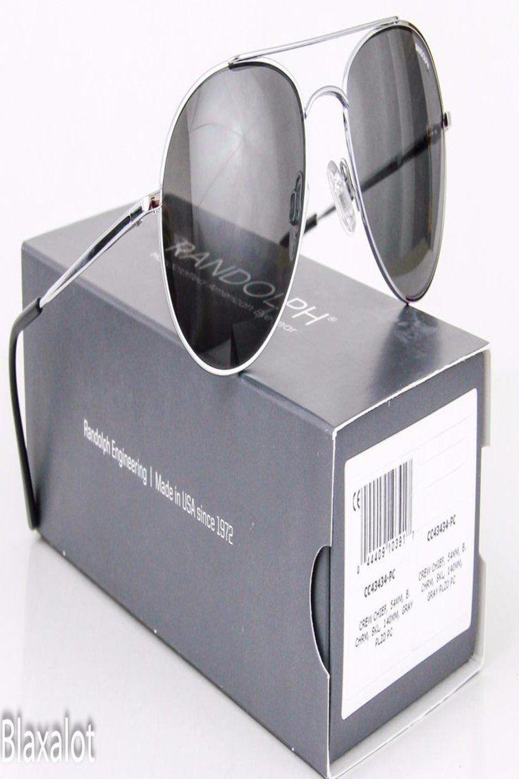 0f2286448a7f 72.81 GBP   NEW RANDOLPH ENGINEERING CREW CHIEF Sunglasses Bright Chrome /  Gray PC Polarized ❤