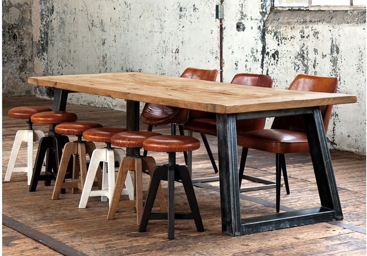 French vintage industrial style LOFT old pine table painted iron wood dining table to do the old retro furniture-in Metal Tables from Furniture on Aliexpress.com | Alibaba Group