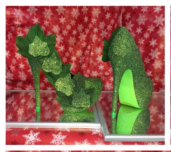 Custom hand made poison ivy heels! (Orders for this item must be placed by sep 28th in order to receive by/before Halloween day oct 31st) for