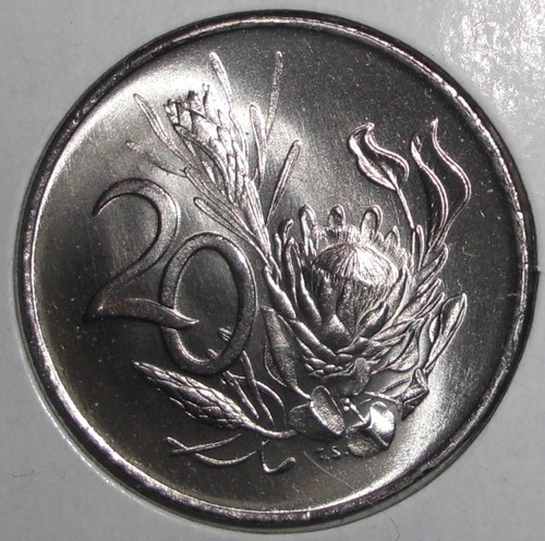 1968 South Africa 20 Cents Protea Flowers Plant Coin | eBay