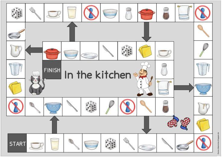 """Ideenreise: Klammerkarten und Spielfeld """"In the kitchen"""""""