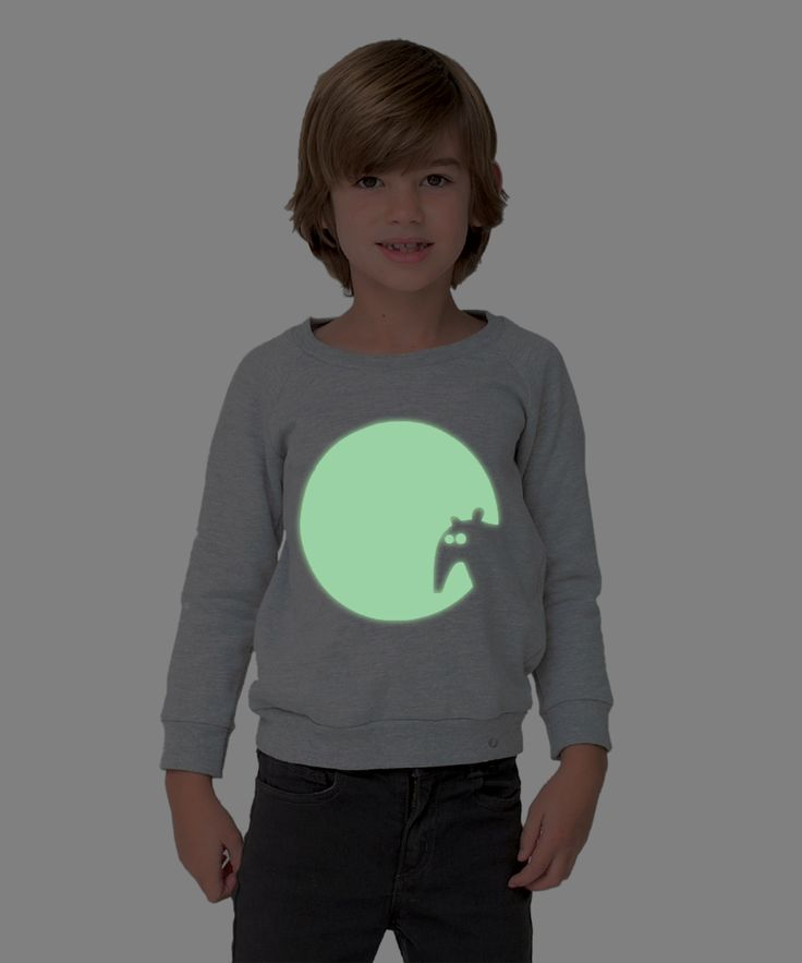 Kids sweatshirt GLOWING TAPIR