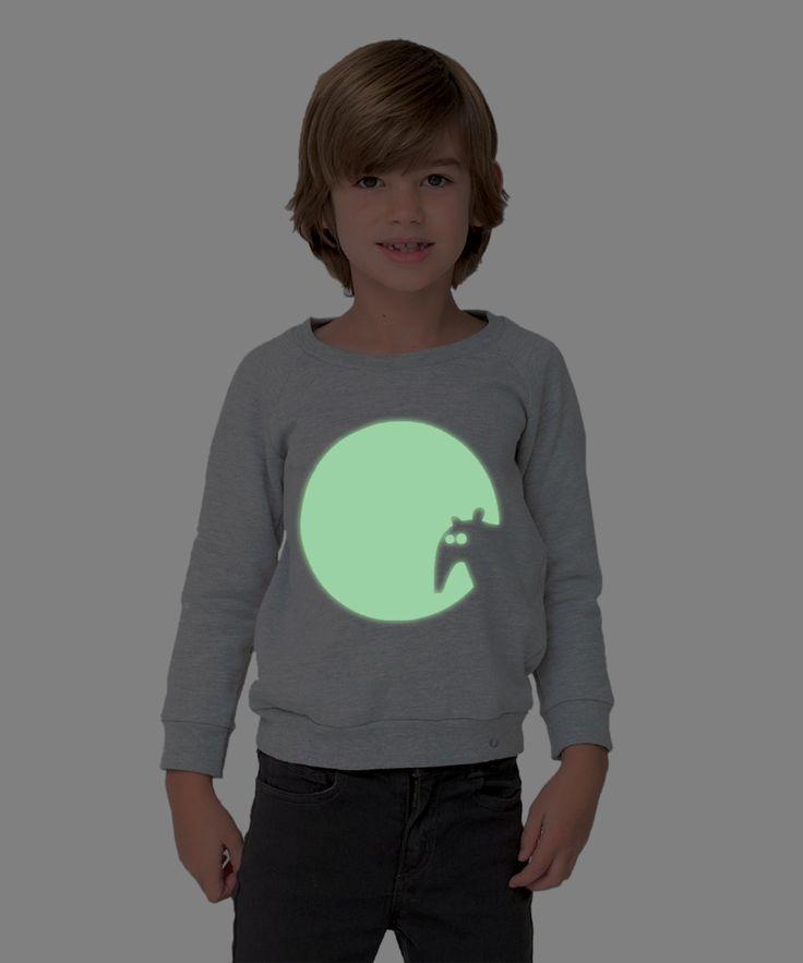 Kids sweatshirt GLOWING TAPIR