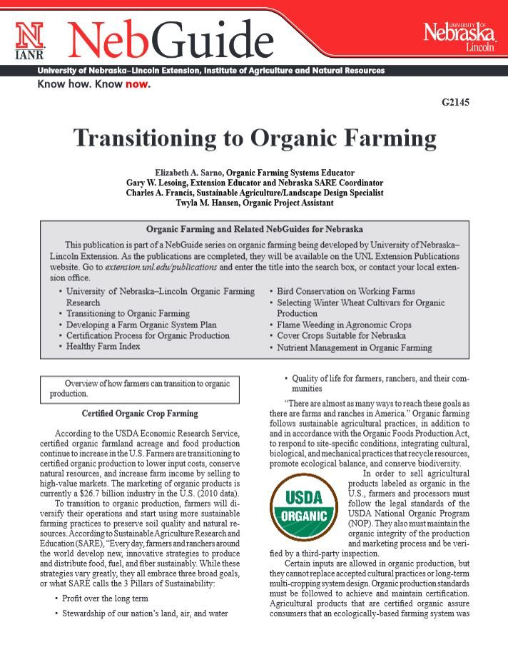 Transitioning to Organic Farming #NebExt