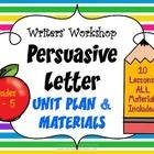 Teach your students how to write persuasive essay with anchor charts, teacher writing examples and more!