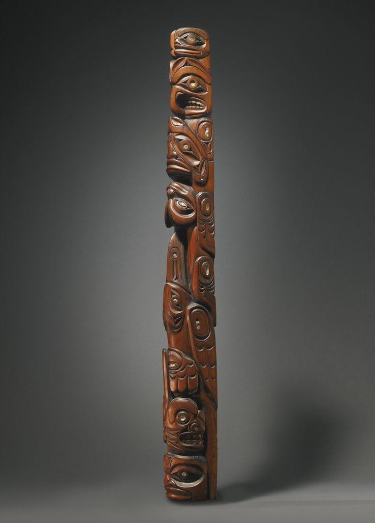 Large Northwest Coast Model Totem Pole