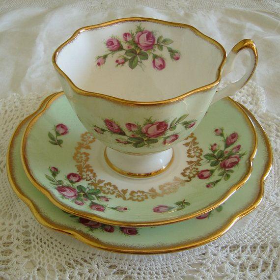 Vintage Salisbury Bone China Tea Cup Saucer and Tea by ReVintageUK