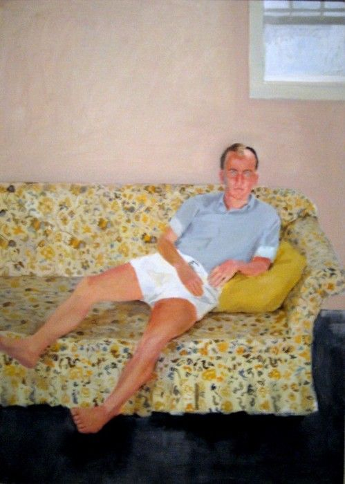 Portrait of Frank O'Hara by Fairfield Porter