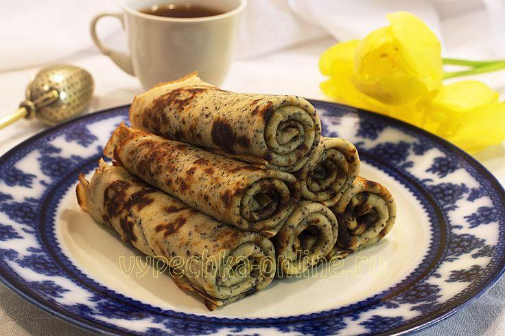 Блины с маком #pancakes #Maca #cinnamon #baking #yummy #recipes #блины #мак #корица #выпечка #вкусняшка #рецепты