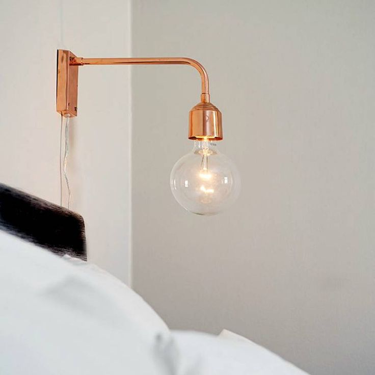 An elegant wall lamp made from copper for the sophisticated room.Suitable for a 40w bulb E27/2,5 mtr. cord. We simply adore this copper wall lamp which has the ability to really finish a room! The copper blends well with pastels, whites or darker shades. This lamp will add an elegant, grown up touch to any room and will definitely be kept on for dinner and house parties alike. Fitted with an European style, two prong plug fitting.Copper. Please note the bulb is not included.27xH13cm