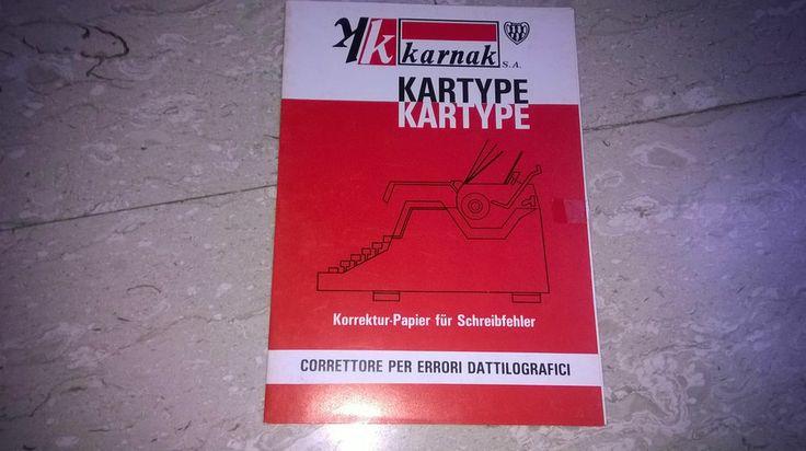 Cancelleria vintage Correttore per errori dattilografici KARTYPE nuovo