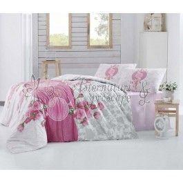 Altinbasak Rosen roz - lenjerie de pat din bumbac ranforce 2 persoane