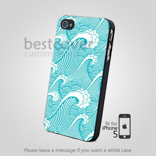 blue sea wave pattern for iPhone 4/4S/5 iPod 4/5 Galaxy S2/S3/S4 ...