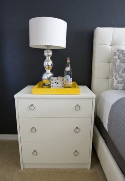 Small Dresser As Nightstand, Complete With New Hardware.   Eclectic    Bedroom   Other Metro   Michelle Hinckley
