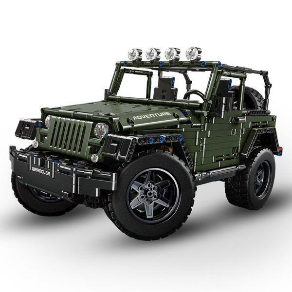 C 64 64 20 Off Moc 5140 Rc Jeeps Wrangler Adventurer Off Road Car Fit Lepined 20090 Technic Model Building Blocks In 2020 Block And Brick Rc Jeep Building Blocks