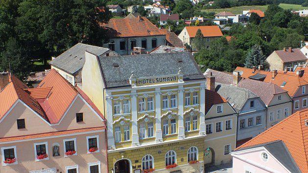 Hotel Šumava v Horšovském Týně.Foto: MÚ Horšovský Týn