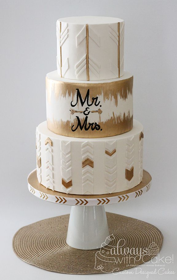 Arrows and Chevron Wedding Cake